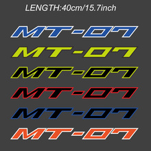 400mm Reflective Motorcycle Wheels Fairing Helmet Tank Pad Decoration Logo  Stickers Decals Fits For YAMAHA MT-07 MT07 MT 07 black blue stickers decals for motorcycle stripes fits for yamaha mt 09 mt09 mt 09 wheels rims tank body reflective inner