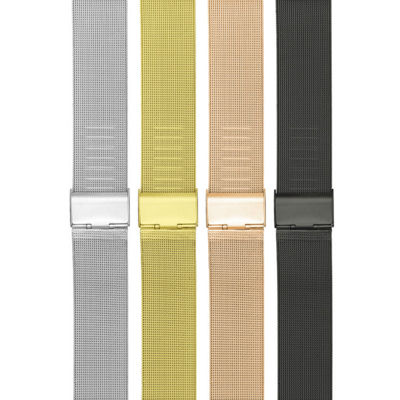 For Apple Watch Band Milanese Apple Watchband 38mm 40mm 42mm 44mm Stainless Steel Braided Watchband in Watchbands from Watches