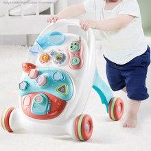 Ходунки для малышей на колесиках, музыкальные ходунки ABS с регулируемой высотой для тренировки слуха, научная ходьба