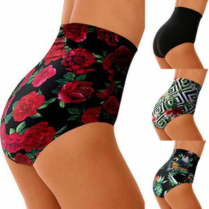 Women's Print High Waist Swimsuit Bikini Bottoms Bottom Swim Shorts Beach Wear Plus Size XXL