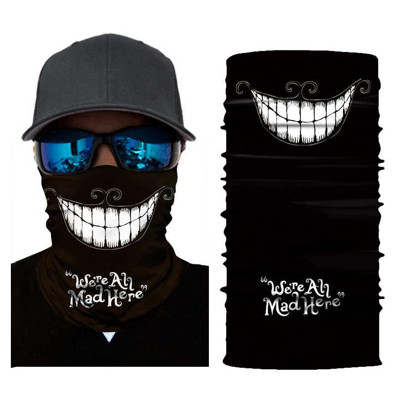 3D Senza Soluzione di Continuità Clown Skull Balaclava Magia Viso Maschera Sciarpa Calda Durag Fantasma Collo Ghetta Scudo Bandana Halloween Sole