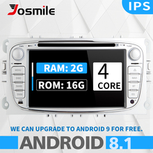 цена на Android 8.1 2 din Car Radio DVD Player For Ford Focus 2 Mondeo 4 C-Max S-Max Kuga Galaxy Transit Connect Multimedia Navigation