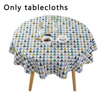 Nordic Polyester Cotton Round Tablecloth Banquet Party Table Exquisite Table Decoration Props Supplies