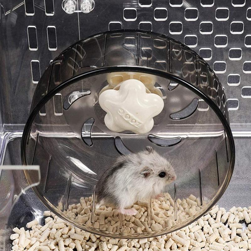 Hamster Running Wheels Transparent Hamster Wheel Running Jogging Treadmill Silent Small Pet Supplies 2020