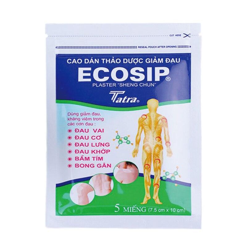 5Pcs/bag ECOSIP Treatment Osteoarthritis Bone Hyperplasia Omarthritis Rheumatalgia Spondylosis Family Essential Patch