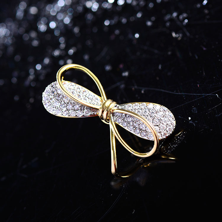 Mini Bowknot Brooch Pin for Women's Silver Vitage Brooch Jewelry Clothes Scarf Buckle Garment Accessories Fine Jewelry Gifts-1