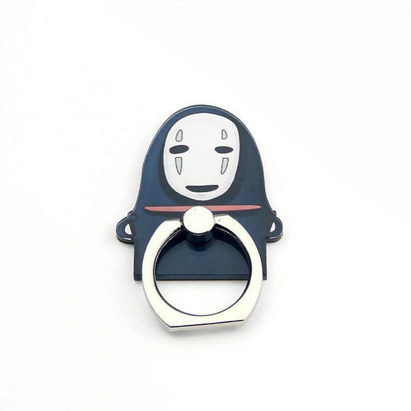 חדש מצחיק אוניברסלי מתכת אצבע טלפון טבעת מחזיק טלפון נייד מחזיק מעמד לא איש הפנים קריקטורה אצבע טבעת מחזיק עבור iphone