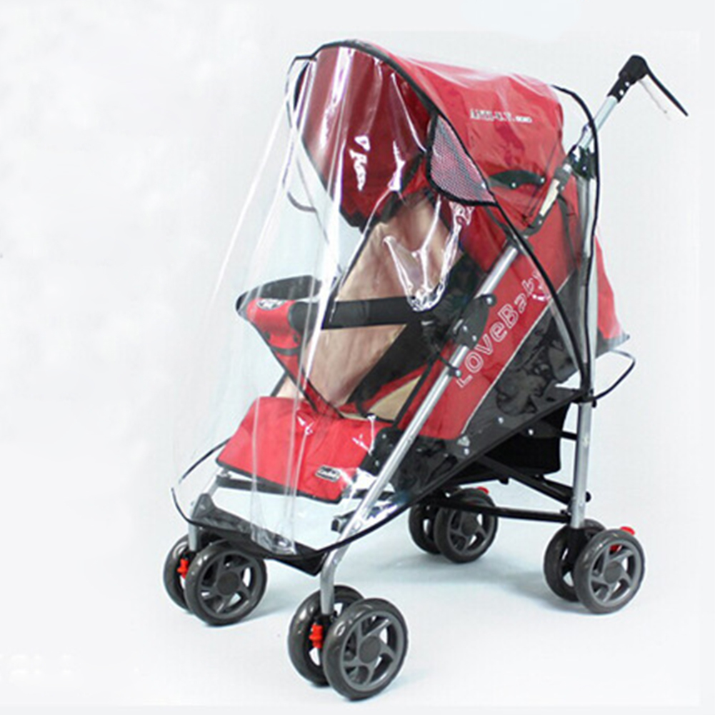 Waterproof Baby Stroller Raincover Universal Carriages Cart Dust Rain Cover Pushchairs Raincoat Windshield Stroller Accessories