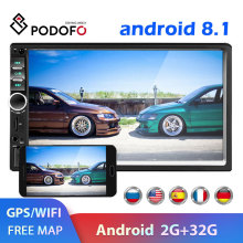 Podofo 2 din Автомобильный Радио gps мультимедийный плеер Android универсальный авто стерео 2din видео MP5 плеер авторадио gps wifi Bluetooth FM