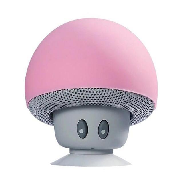 Cartoon Mushroom Wireless Bluetooth Speaker Waterproof Suction Cup Handfree Mini Speaker Audio Outdoor Portable Stereo Subwoofer