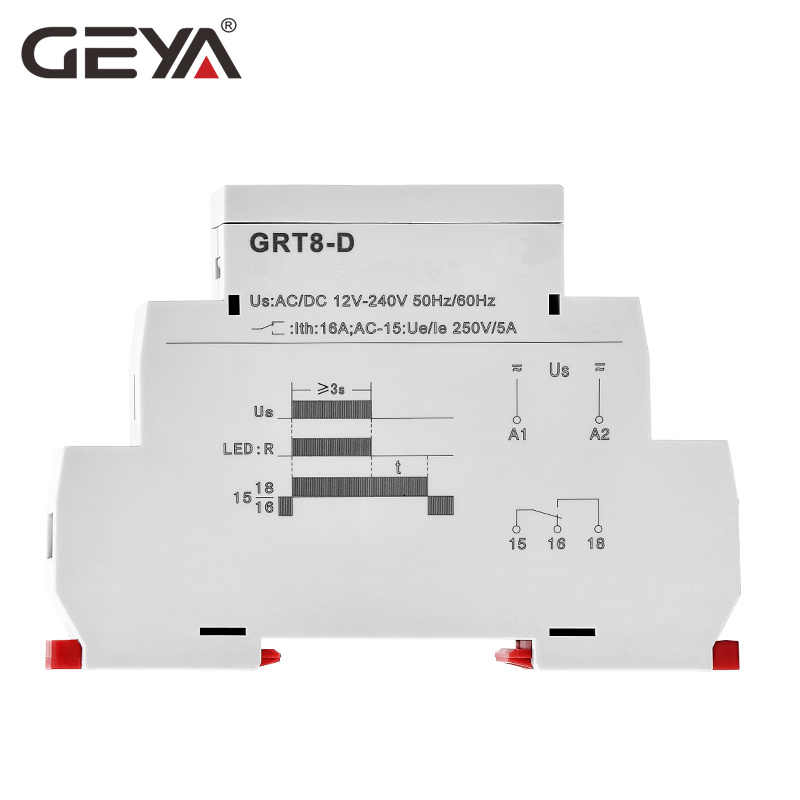 GEYA GRT8-D Time Delay Relay Delay Off Without Power Supply AC//DC12V-240 N2Q3 2X