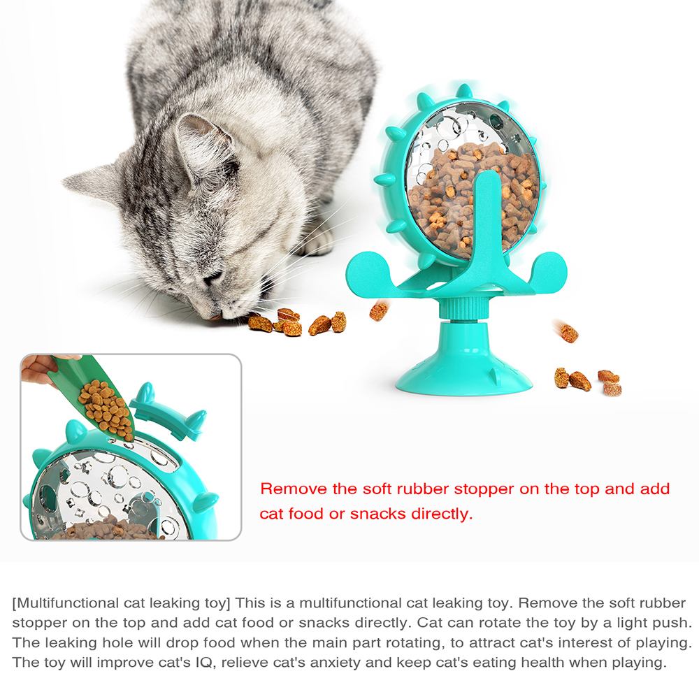 Original Treat Leaking Cat Toy Interactive Rotatable Wheel Toy for Cats Kitten Dogs Pet Products Accessories