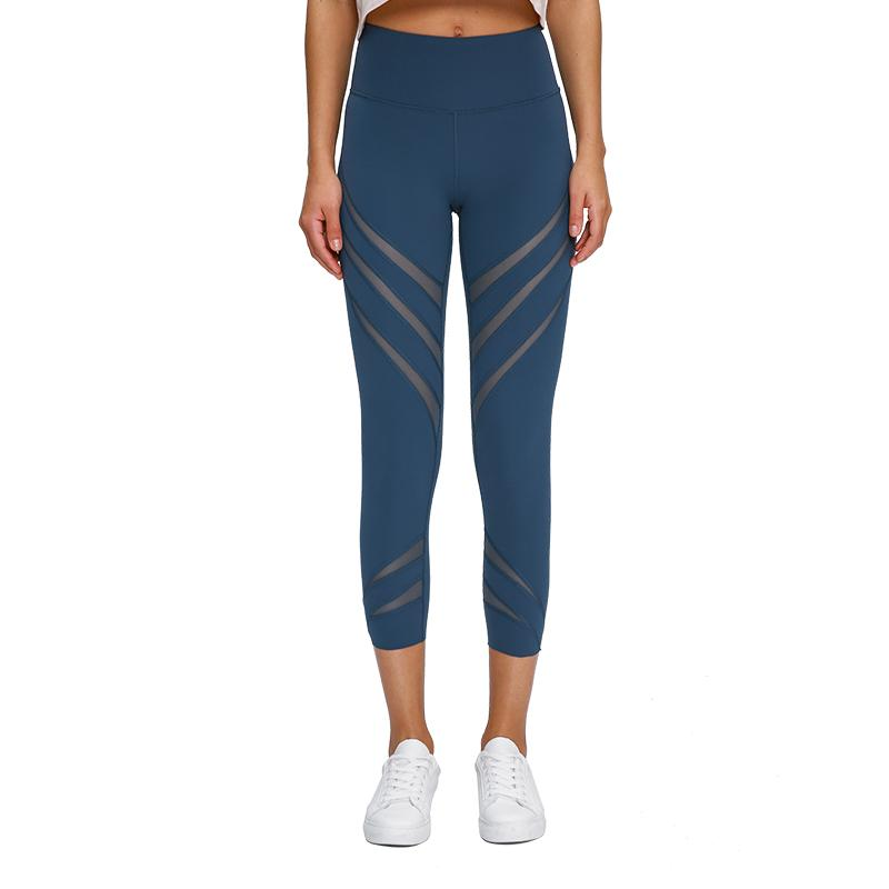 Capris Pants Women Tights Fabric Panels Are Breathable Sport Gym Yoga Leggings Waistband Pocket Fitness leggings