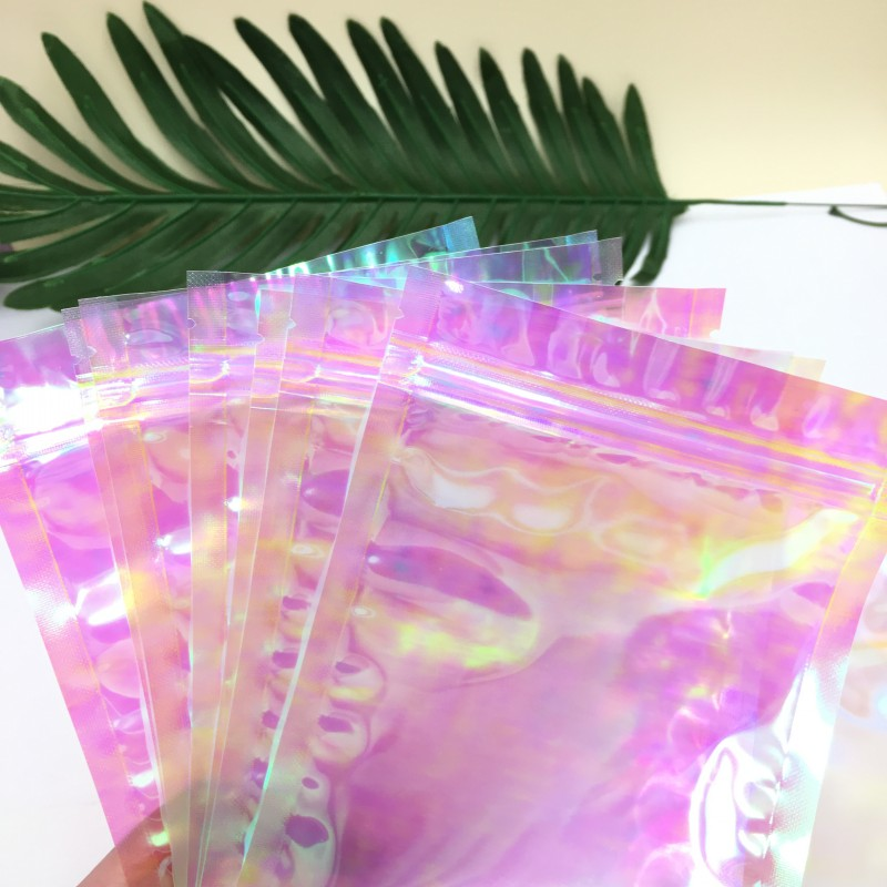 50pcs/lot Empty Holographic Bags For Eyelashes And Eyelash Applicators Lash Packaging