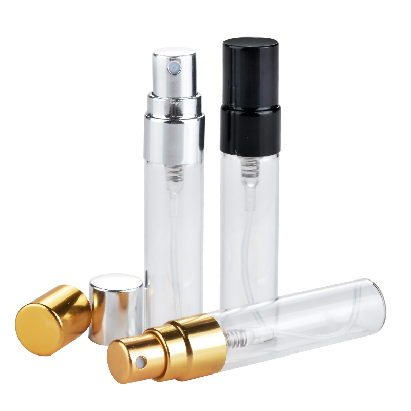 5ml Portable Glass Perfume Spray Bottle Aluminum Atomizer Empty Travel Accessores  Cosmetic Perfume Container Makeup Tools