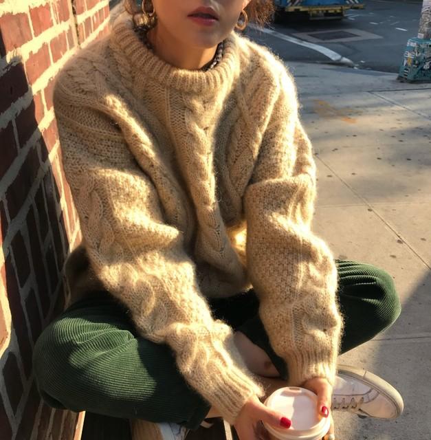 Apricot Twisted Women Sweater