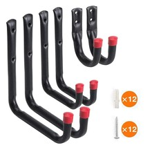 6 Pack Heavy Duty Garage Storage Utility Hooks Wall Mount Garage Hangers & Organizer for Ladder Tools Chair and Hose(China)