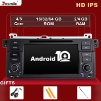 IPS DSP 1 Din Android 10 Car Radio Multimedia For BMW E46 M3 Rover 75 Coupe 318/320/325/330/335 Navigation 8 Core 4GB RAM 64GB