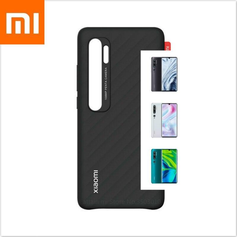 Original Xiaomi Mi Note 10, Mi Note 10 Pro Simple Striped Back Case Phone Case Protective Shell Xiomi Phone CC9 Pro Phone Case