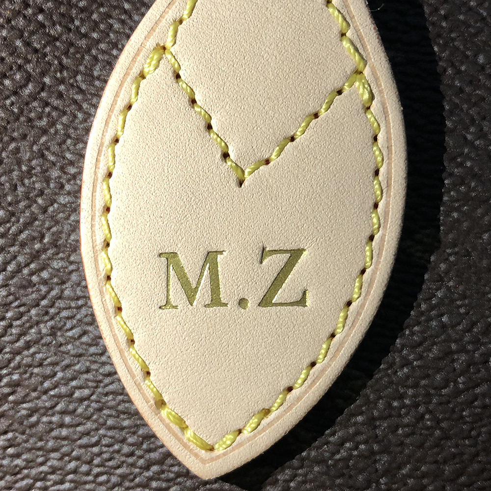 Not Sold Separately Personalized Custom Handbag Name Abbreviation Hot Printed Wallet Letter Seal Leather Hang Tag Label