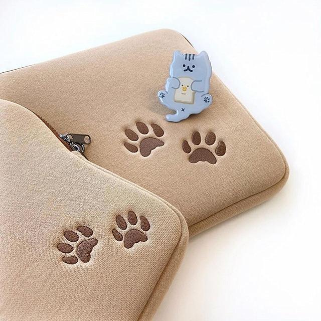 Tablet case laptop storage bag For Mac Ipad pro 9.7 11 13inch Cartoon toast cat sleeve liner bag student girls Case 6