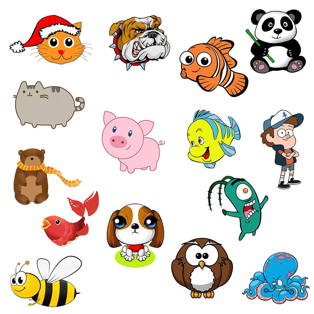25 Pcs Animais Coloridos Sticker Brinquedos Para Criancas Aquarela