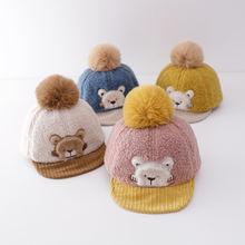 Детская шапка девочки мальчики теплые бейсбольные кепки вышивка