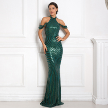 2019 Geometric Green Stretchy Sequin Party Dress Off Shoulder O Neck Bodycon Floor Length Full Lining Open Back Club Dress цена 2017