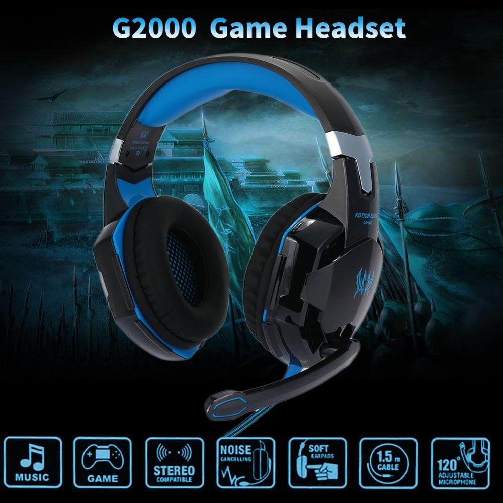 <font><b>G2000</b></font> 3.5mm <font><b>USB</b></font> Noise Cancelling Headphone Earphone Headphones HIFI Stereo Earbuds Gaming Headset For PUBG With Mic image