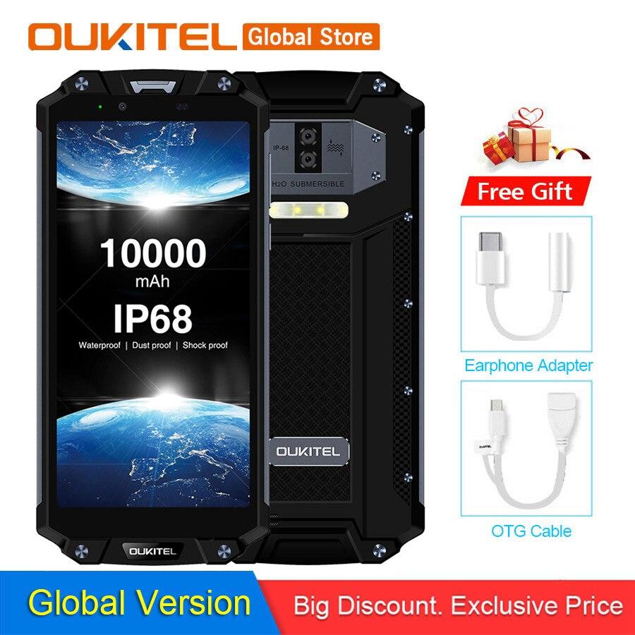"""OUKITEL WP2 IP68 NFC Waterproof 6.0"""" 18:9 Android 8.0 MT6750T Octa Core 4GB RAM 64GB ROM 10000mAh Fingerprint Mobile Phone(China)"""