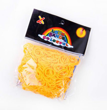 цена на LBD015-C  DIY silicone loom bands orange rubber loom bands refills used to make bracelet 600 loom bands+24 S-clips