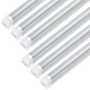 4PCS/25PCS 1.2M/2.4M Led Tube Light Bulb 4FT/8FT 36W 72W 90W T8 LED Shop Light Fixtures Garage Warehouse Fluorescent Lighting