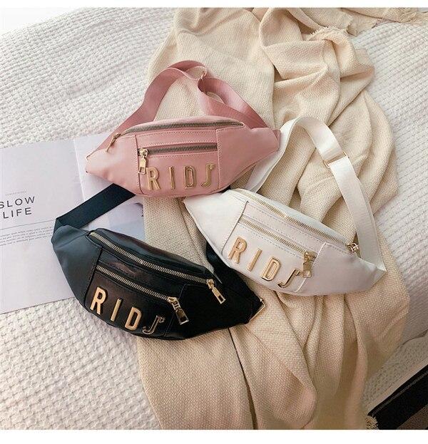 Newest 2019 Fashion Women Chest Bag Sports Running Messenger Crossbody Bag PU Pouch Waist Bag Phone Travel Purse