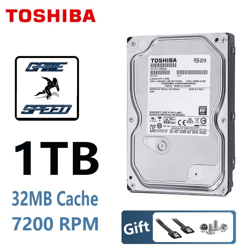 TOSHIBA 1 ТБ жесткий диск 1T 1000 ГБ, внутренний HDD HD 7200RPM 32M SATA3 3,5