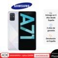 Telefone samsung galaxy a71, cor azul branco negro, 128 gb de memória interna, 6 gb de ram, pantalla fhd + de 6.7