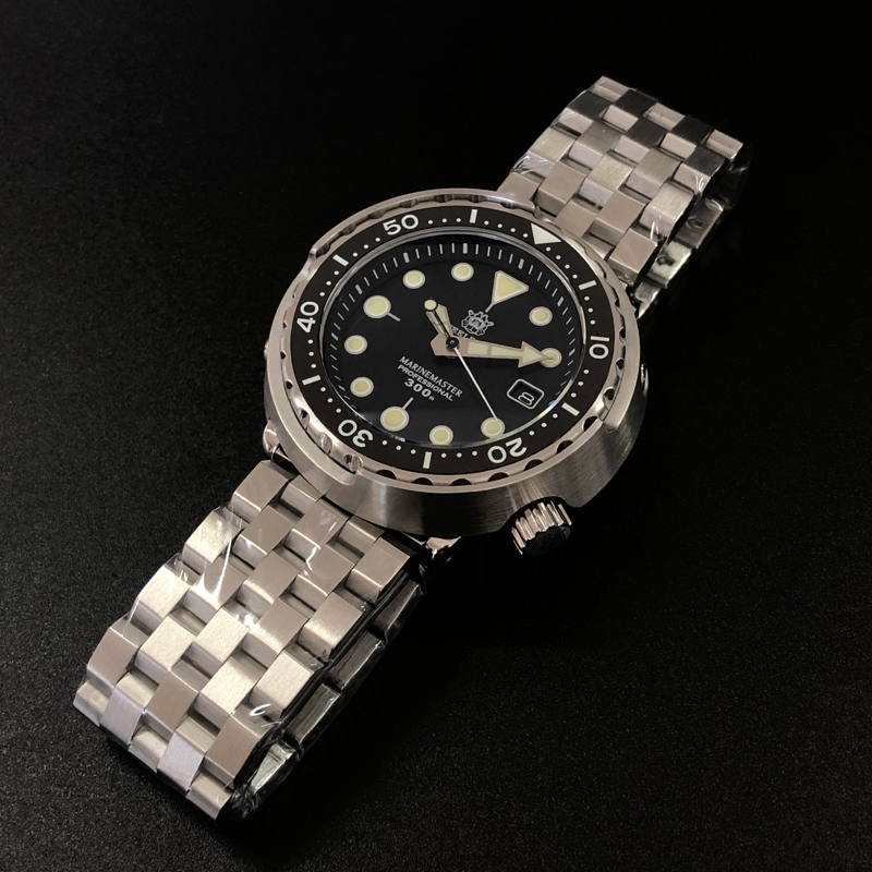 Steeldive SD1975 Black Dial Ceramic Bezel 30ATM 300m Waterproof Stainless Steel NH35 Tuna Mens Dive Watch