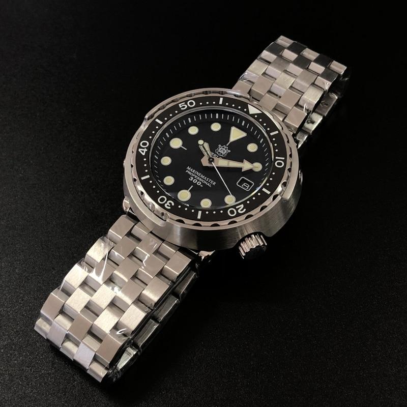 Steeldive SD1975 Black Dial Ceramic Bezel 30ATM 300m Waterproof Stainless Steel NH35 Tuna Mens Dive Watch