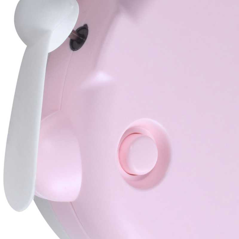 Usb Mini Fan Makeup Led Mirror Usb Rechargeable Cooling Fan Portable Multifunction Pocket Catton Fan