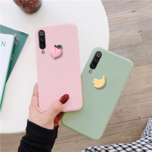 cute 3D fruit banana peach grape case for xiaomi mi A3 lite CC 9 lite