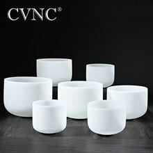 """CVNC 432Hz veya 440Hz 7 adet 7 """"   14"""" çakra ayarlı CDEFGAB buzlu kuvars kristal şarkı kase"""
