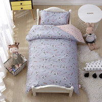 6Pcs/Set Kindergarten Cartoon Bedding Set Crib Bed Linen Cotton Kit Baby Bedding Set Quilt Bed Sheet Pillow With Filler