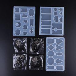 1 комплект Хрустальная эпоксидная форма DIY подвеска ручной работы ювелирное Ожерелье Браслет Подвески Форма креативные силиконовые формы н...
