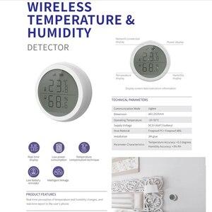 Image 2 - Датчик температуры и влажности Tuya ZigBee для умного дома со светодиодный ным экраном, хаб для умного дома и Tuya Zigbee
