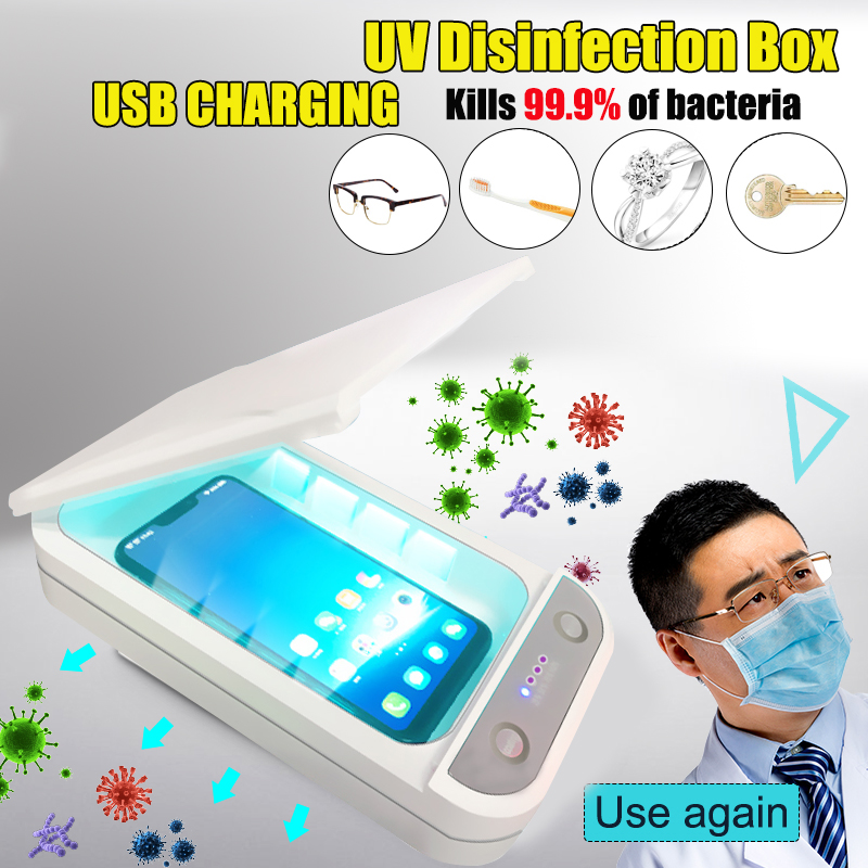5V UV Light Phone Sterilizer Box Jewelry Phones Cleaner Personal Sanitizer Disinfection Cabinet With Aromatherapy Esterilizador