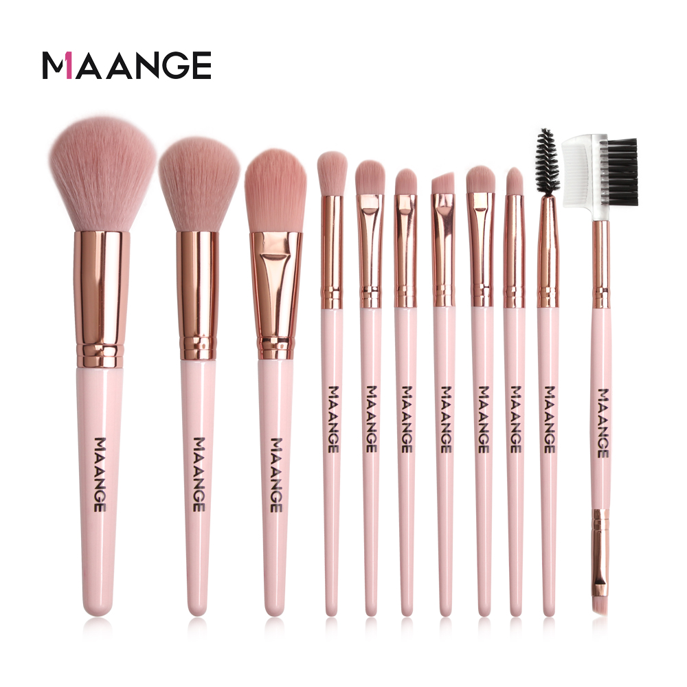 MAANGE Makeup Brushes Pro Pink Brush Set Powder EyeShadow Blending Eyeliner Eyelash Eyebrow Make up Beauty Cosmestic Brushes