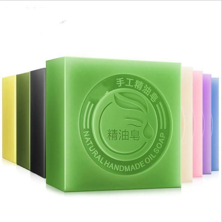 Коже мыло мед Зелёный чай ручной работы мыло Отбеливающее увлажняющее уход за кожей лица очищающее мыло удаляет Очищение акне Ванна бар