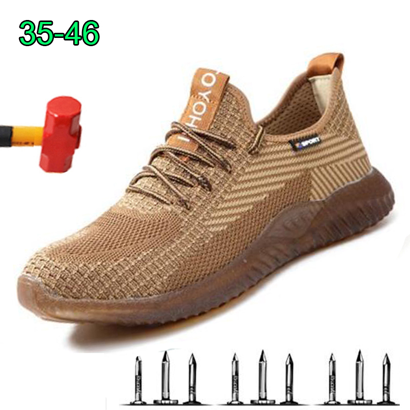 Dropshipping Men Steel Toe Boots Work Safety Shoes Boots Male Autumn Anti-Crush Work Safety Shoes Construction Protective Sneake