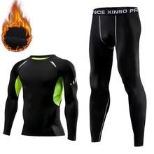 Thermal underwear men compression long johns keep warm winte