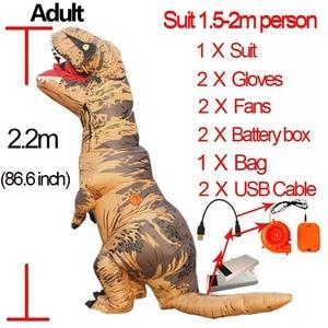Image 1 - Tレックスの衣装成人男性インフレータブルtレックス衣装アニメコスプレファンタジーハロウィンtレックス恐竜の衣装子供女性