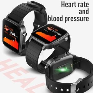 Image 4 - SP1 Sport Smartwatch Mannen Vrouwen Met Body Temperatuur Meet Hartslag Echte Medische SPO2 Bloed Zuurstof Smart Horloge Vs W26 w46